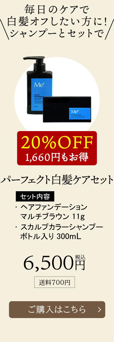 【20%OFF!1,660円もお得】パーフェクト白髪ケアセット [通常価格]6,500円税込